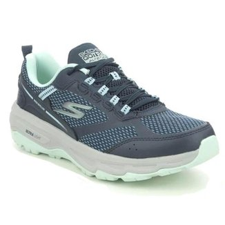 Tênis Skechers GO Run Trail Altitude Feminino - Azul Marinho / Verde 37