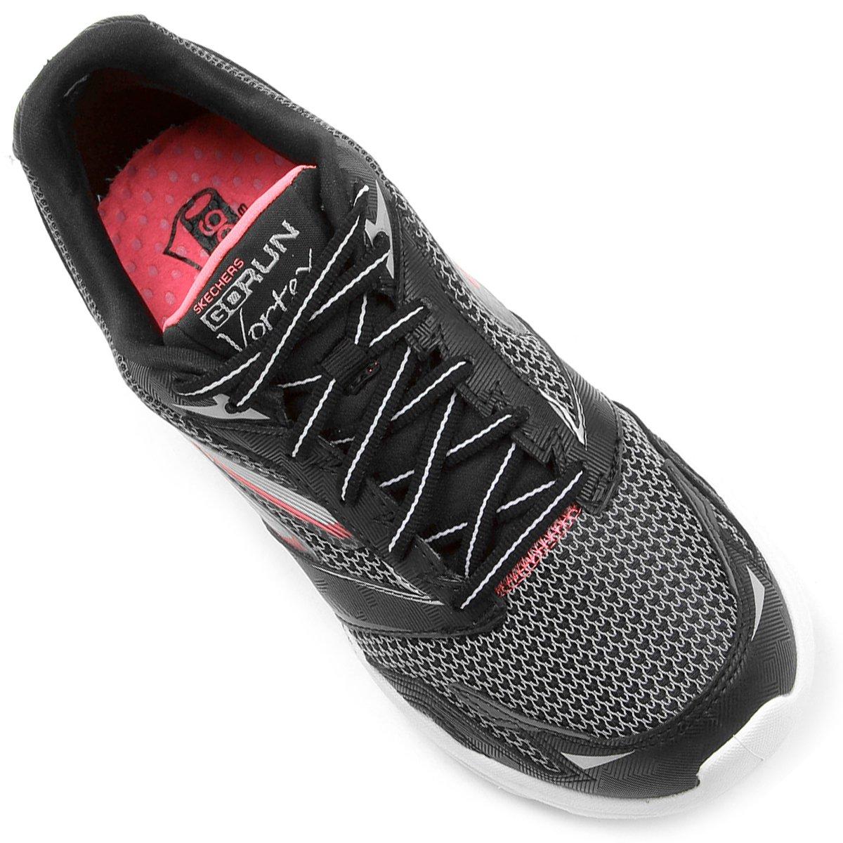 Tênis Skechers Go Run Vortex Feminino - Preto e Rosa - Compre Agora . c37b416d0f28a