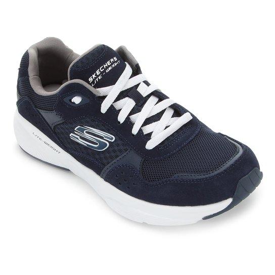 Tênis Skechers Meridian Ostwall Masculino - Azul+Branco