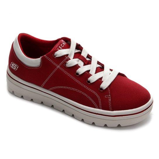 Tênis Skechers Street Cleat Bring It Back Feminino - Vermelho