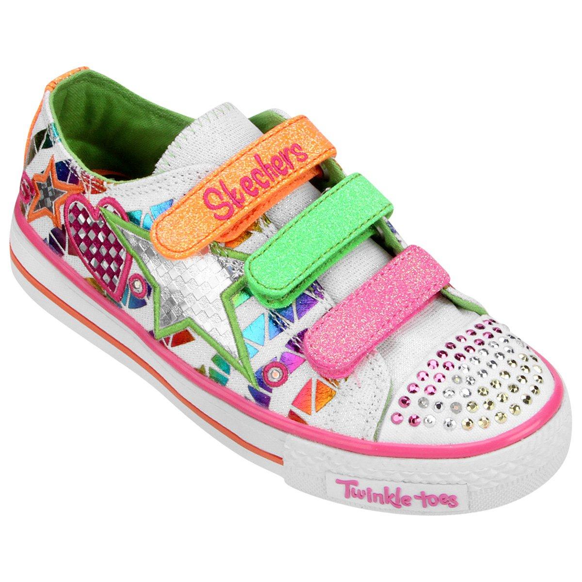 b5b44d0b4ea Tênis Skechers Twinkle Toes Shuffles Infantil - Compre Agora