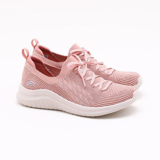 Tênis Skechers Ultra Flex 2.0 Feminino - Rosê