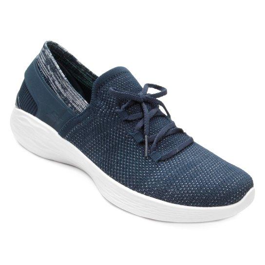 Tênis Skechers You Spirit Feminino - Azul+Branco