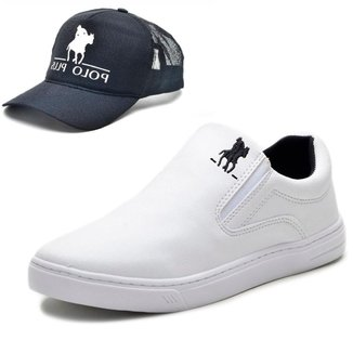 Tênis Slip On Casual Masculino com Boné Polo Plus
