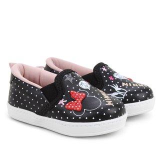 Tênis Slip On Infantil Disney Minnie Fashion Feminino