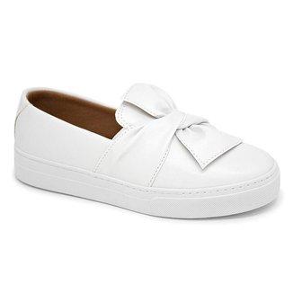 Tênis Slip on Laço Branco - 40