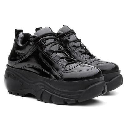 Tênis Sneaker Buffalo Vicerinne Verniz Plataforma Feminino - Feminino