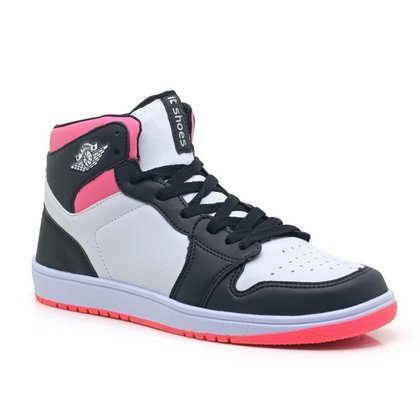 Tênis Sneaker Feminino Cano Alto Leve Macio Treino Academia