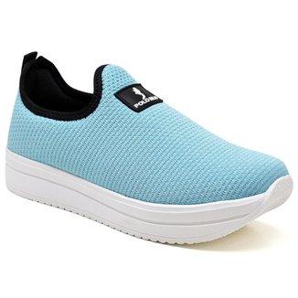Tênis Sneaker Feminino Flatform Meia Calce Fácil Conforto