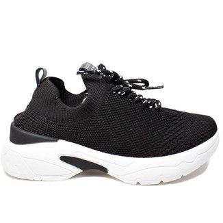 Tênis Sneaker Feminino Via Euro Sofia 220010 Preto