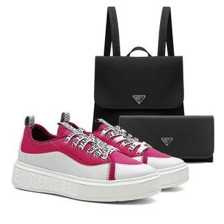 Tênis Sneaker Vicerinne Feminino Casual + Mochila + Carteira