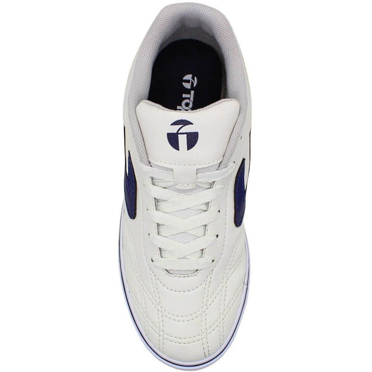 Tênis Topper Dominator 3 Futsal Masculino - Branco e Azul - Compre ... 3c8ca4b68ef1d