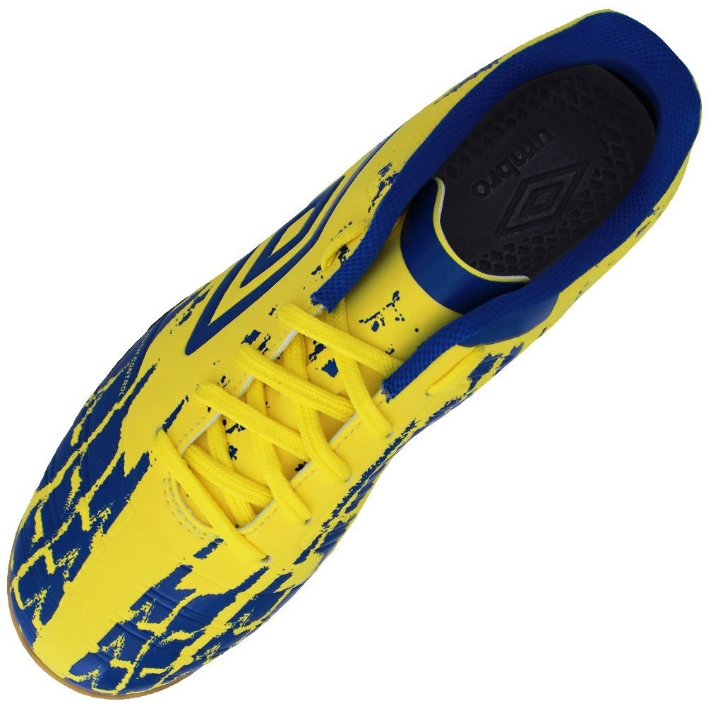 Tênis Umbro Futsal Accuro II Club - Amarelo e Azul - Compre Agora ... 7e5be16c97647