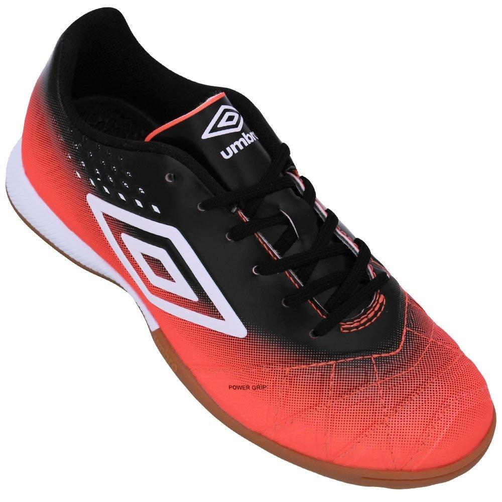 ea86e0332 Umbro Tênis Tênis Futsal Preto Laranja Pro Fifty e Umbro POEB7 for ...