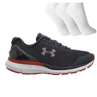 Tenis Under Armour Charged Extend + 3 Pares De Meia Masculino