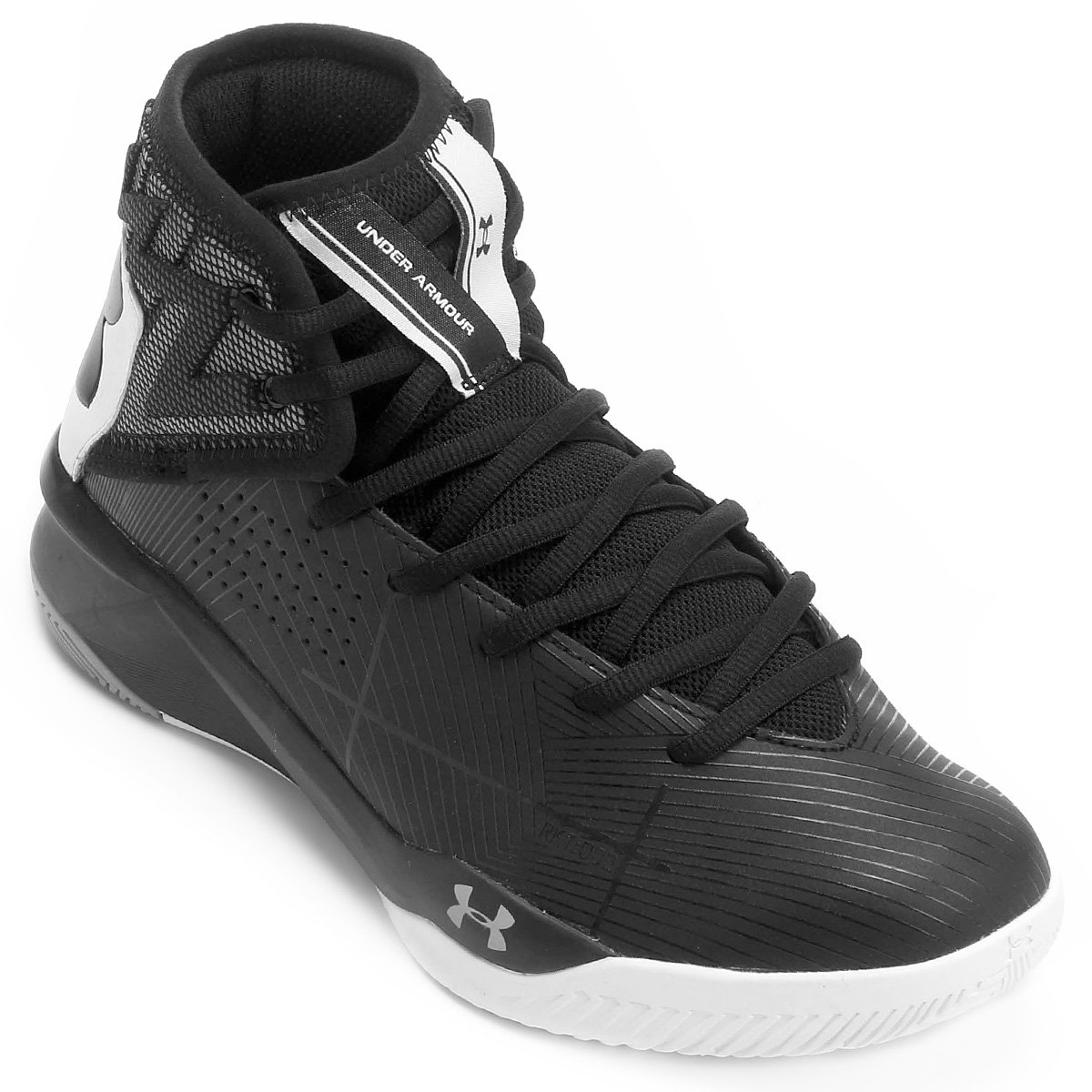 best sneakers 91365 25507 Tênis Under Armour Rocket 2 Masculino - Preto e Branco