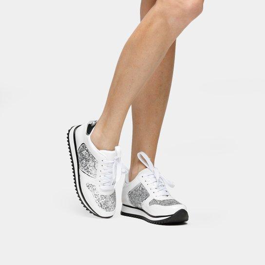 Tênis Vizzano Jogging Glitter - Branco+prata