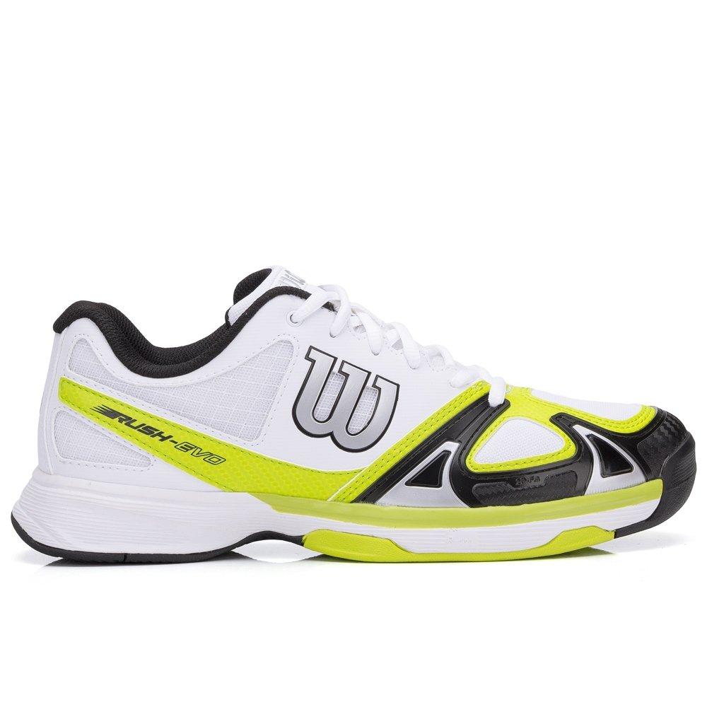 Branco Tênis Evo e Limão Tênis Branco Evo Rush Wilson Rush Verde Wilson OO0qx8I
