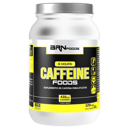 Termogênico 8 Hours Cafeína 120 Cáps - BRN Foods -