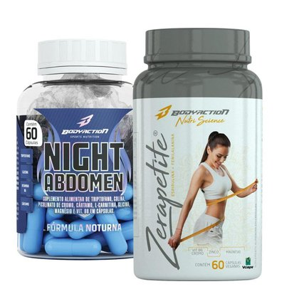 Termogênico Noturno Night Abdomen + Zerapetite - Body Action