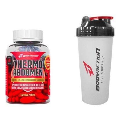Termogênico Thermo Abdomen 60 Comp + Coqueteleira Bodyaction