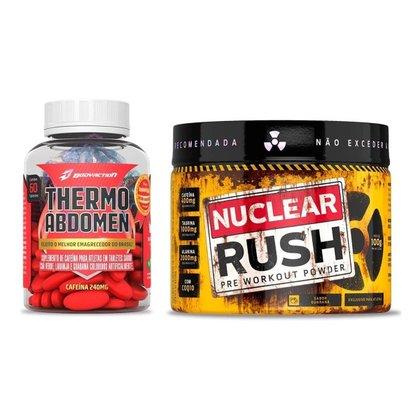 Termogênico Thermo Abdomen 60 Comp + Pré Treino Nuclear Rush Bodyaction