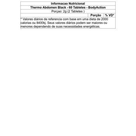 Termogênico Thermo Abdomen Black Blister 60 Tabletes - Body Action -