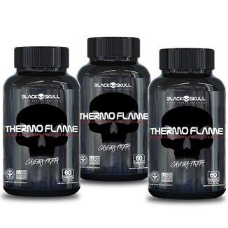 Termogênico thermo flame 60 caps - kit c/ 3 unidades