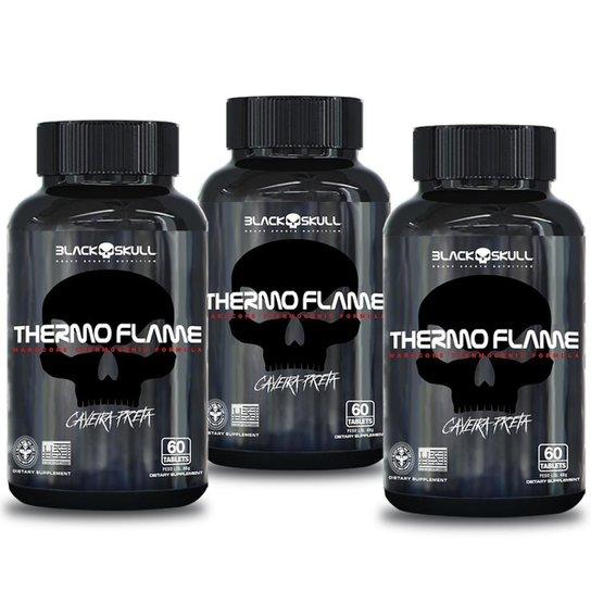 Termogênico thermo flame 60 caps - kit c/ 3 unidades -