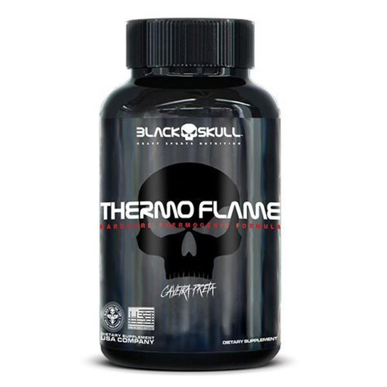 Termogênico Thermo Flame Black Skull - 120 Tabs -
