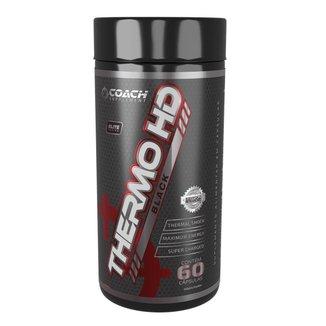 Termogênico Thermo Hd Black  60 Cápsulas - Coach Supplement