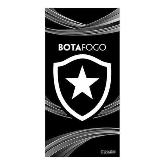 Toalha de Banho Bouton Veludo Botafogo 70 x 1,40 cm - Preto