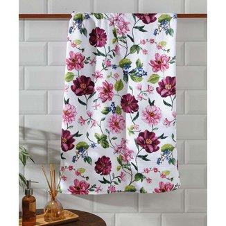 Toalha De Banho Felpuda Estampa Floral Jade Döhler 1 Peça - 10047894891