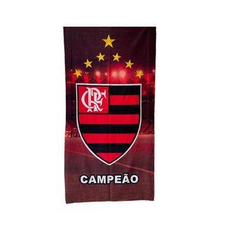 Toalha de Banho Flamengo Aveludada 0,70 x 1,40 cm