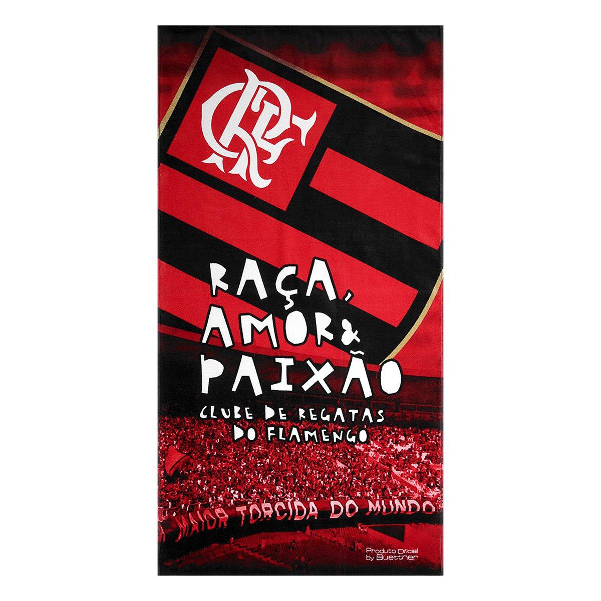 Toalha de Banho Flamengo Torcida - Vermelho - Compre Agora  531a59e224f78
