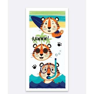 Toalha De Banho Infantil Estampa Tigre Lepper 1 Peça - 10049654462