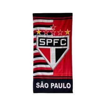 Toalha de Banho Time São Paulo Aveludada 100% Algodão
