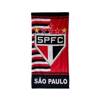 Toalha de Banho Time São Paulo Praia Piscina Aveludada Macia
