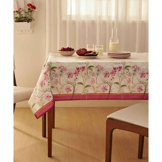 Toalha De Mesa Quadrada Estampa Floral Terraço Lepper - 10048984928