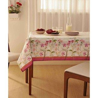 Toalha De Mesa Retangular Estampa Floral Terraço Lepper - 10048984942