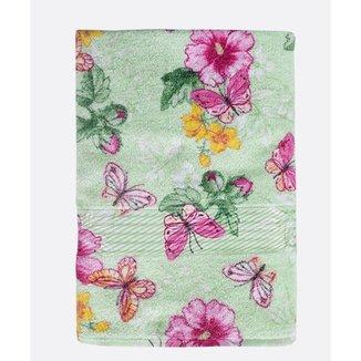 Toalha De Rosto Estampa Floral 50x80 Fran Döhler - 10043581375