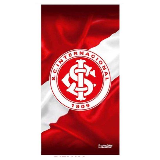 Toalha do Internacional Veludo 70 x 1,40 cm - Vermelho