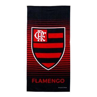 Toalha Flamengo Brasão Veludo