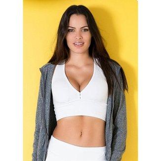 Top c/ Bojo Cós Fit Just Fit Feminino / Branco / G