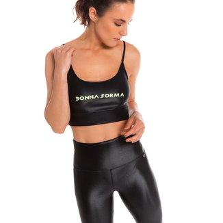 Top Cirre Bonna Forma Fitness com Silk Feminino