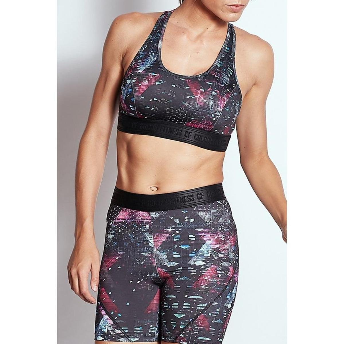 Preto Estampado Fitness Colcci Top Colcci 00465700248 Top wO7WRq4