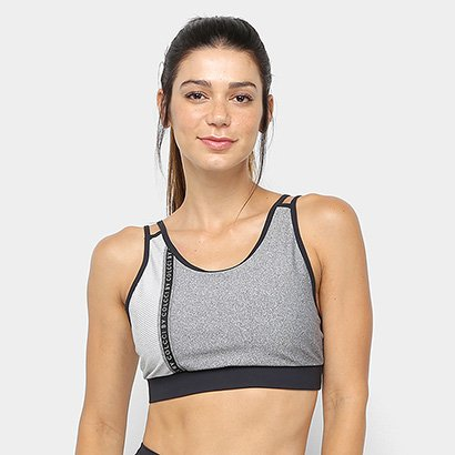 Top Colcci Fitness Tela Lettering - Feminino