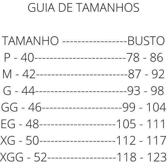 Top Crópped Com Bojo Sutiã Tamanho Grande Plus Corpo Nú 534 Liso - Preto