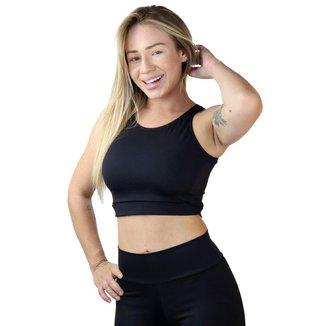 Top Cropped Fitness Maravs Stretch Feminino