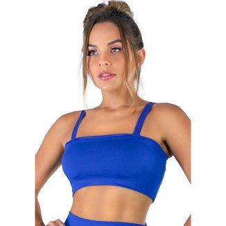 Top Faixa Alça   Fitness Academia Suplex Mvb Modas  Feminino